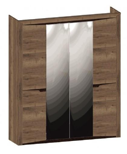 СГ «Гарда»Дуб галифакс Табак Шкаф 4-х дверный