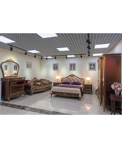 Спальня Барокко, орех с золотой патиной