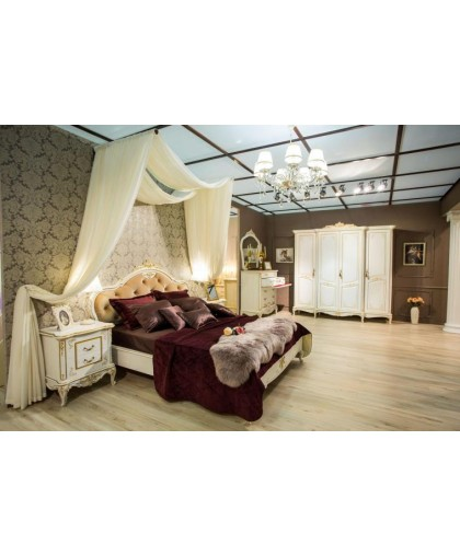 Спальня Барокко, слоновая кость с золотой патиной