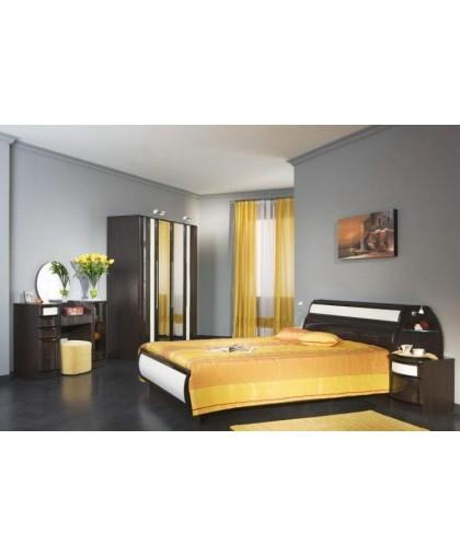 Спальня Новелла 42, венге/белый/глянец