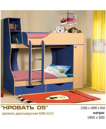 Подростковая двухъярусная кровать 05