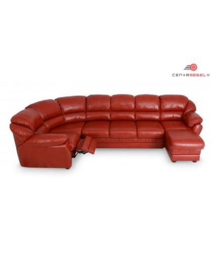 Модульный кожаный диван Остин